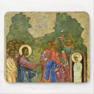 El aumento de Lazarus, icono ruso Alfombrilla De Ratones