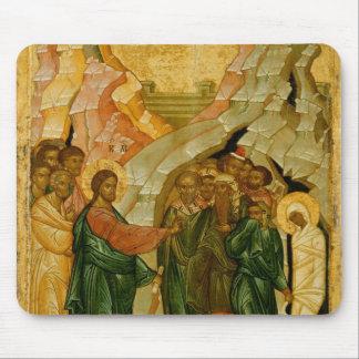 El aumento de Lazarus, icono ruso Tapete De Ratón