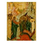 El aumento de Lazarus, icono ruso Tarjeta Postal