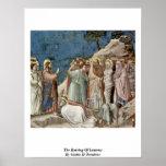 El aumento de Lazarus, por Giotto Di Bondone Impresiones