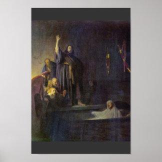 El aumento de Lazarus Por Rembrandt Van Rijn Posters