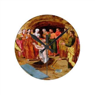 El aumento de Lazarus Relojes De Pared