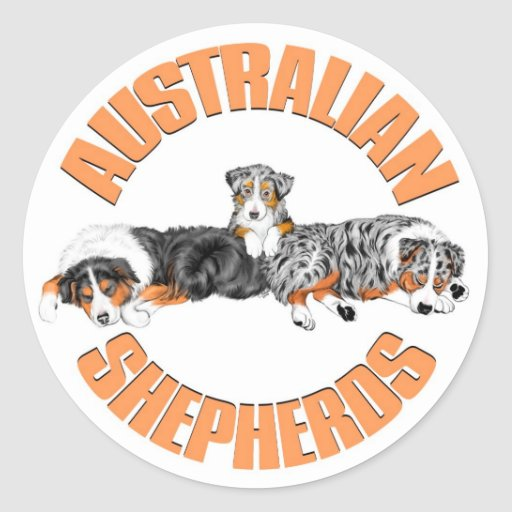 El australiano Shepherds al pegatina