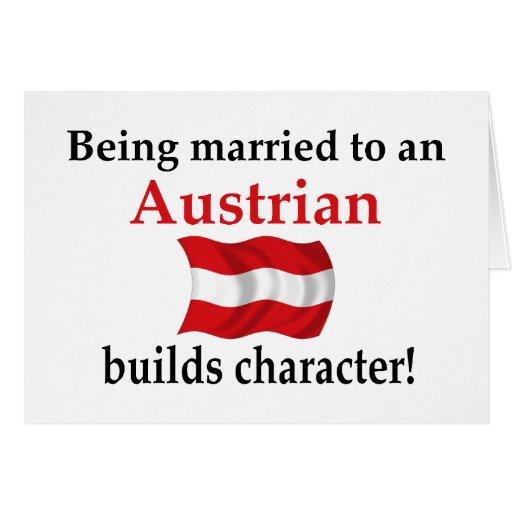 El austriaco construye el carácter tarjetón