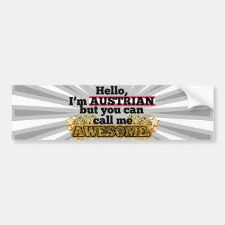 El austriaco pero me llama impresionante etiqueta de parachoque