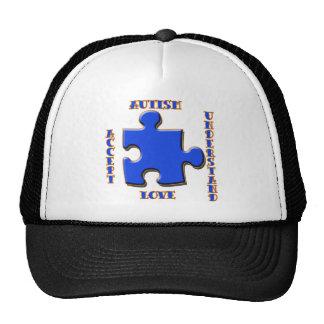El autismo, aceptación, amor, entiende gorros bordados