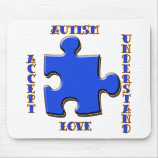 El autismo, aceptación, amor, entiende tapetes de ratones