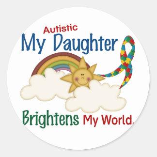 El autismo ACLARA a MI hija del MUNDO 1 Etiquetas Redondas