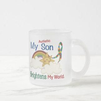 El autismo ACLARA a MI hijo del MUNDO 1 Taza Cristal Mate