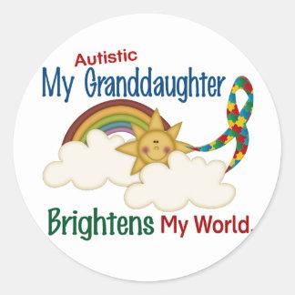 El autismo ACLARA a MI nieta del MUNDO 1 Etiquetas Redondas
