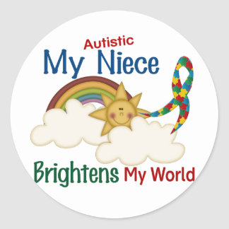El autismo ACLARA a MI sobrina del MUNDO Pegatina Redonda