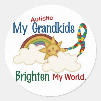 El autismo ACLARA a MIS Grandkids del MUNDO 1 Pegatinas Redondas