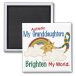 El autismo ACLARA a MIS nietas del MUNDO 1 Iman Para Frigorífico