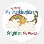 El autismo ACLARA a MIS nietas del MUNDO 1 Etiqueta Redonda