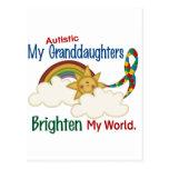 El autismo ACLARA a MIS nietas del MUNDO 1 Tarjeta Postal