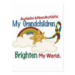El autismo ACLARA a MIS nietos 2 del MUNDO 1 Tarjetas Postales