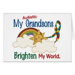 El autismo ACLARA a MIS nietos del MUNDO 1 Tarjetas