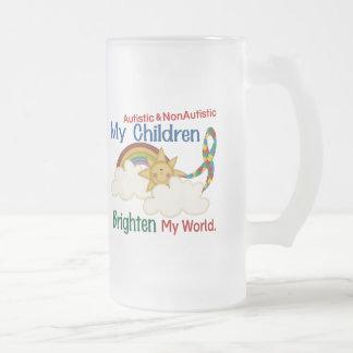 El autismo ACLARA a MIS niños 2 del MUNDO 1 Taza Cristal Mate