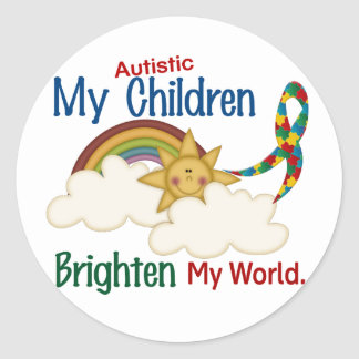 El autismo ACLARA a MIS niños del MUNDO 1 Pegatinas Redondas