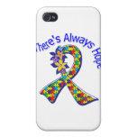 El autismo allí es siempre esperanza floral iPhone 4/4S carcasas