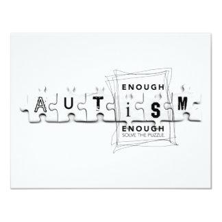 El autismo bastante es bastante invitación 10,8 x 13,9 cm