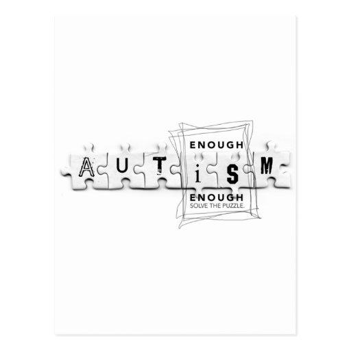 El autismo bastante es bastante postal