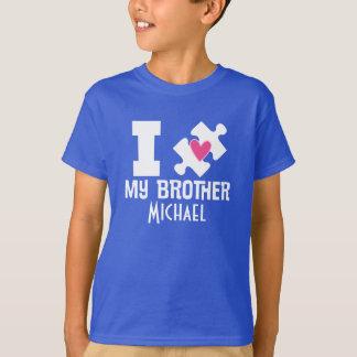 El autismo Brother personalizó la camiseta de la