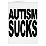 El autismo chupa tarjeton