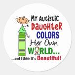 El autismo COLOREA a SU PROPIA hija del MUNDO Etiqueta Redonda