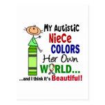 El autismo COLOREA a SU PROPIA sobrina del MUNDO Tarjeta Postal