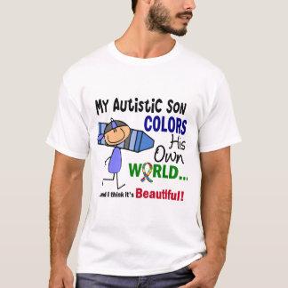 El autismo COLOREA a SU PROPIO hijo del MUNDO Playera