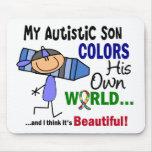 El autismo COLOREA a SU PROPIO hijo del MUNDO Tapete De Raton