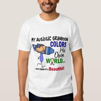 El autismo COLOREA a SU PROPIO nieto del MUNDO Playera