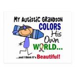 El autismo COLOREA a SU PROPIO nieto del MUNDO Postales