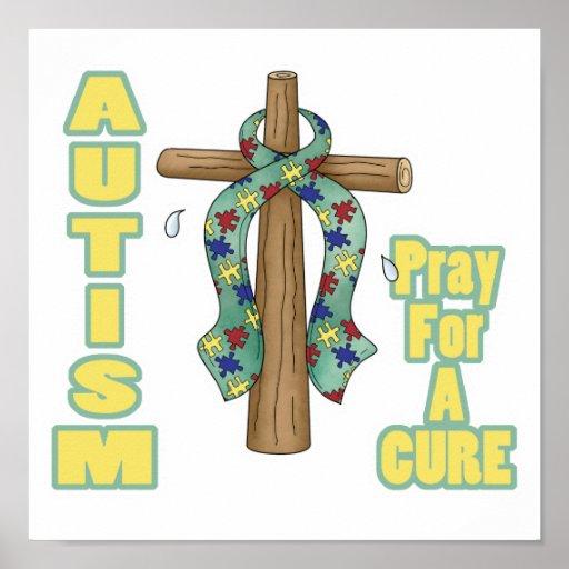 El autismo Conciencia-Ruega para una curación Impresiones