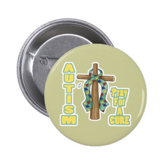 El autismo Conciencia-Ruega para una curación Pin Redondo 5 Cm