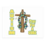El autismo Conciencia-Ruega para una curación Postal