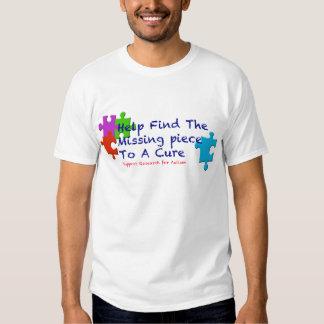 El autismo de la ayuda encuentra una curación camisas
