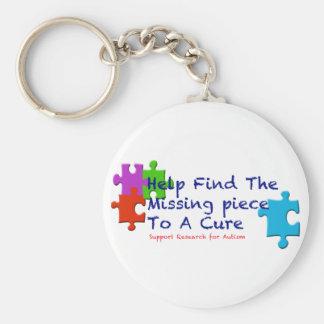 El autismo de la ayuda encuentra una curación llavero redondo tipo pin
