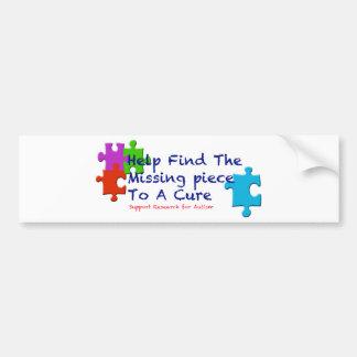 El autismo de la ayuda encuentra una curación pegatina para auto