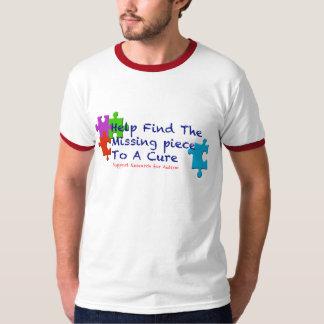 El autismo de la ayuda encuentra una curación playeras