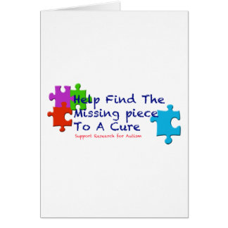 El autismo de la ayuda encuentra una curación tarjeta de felicitación