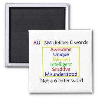 El autismo define imán cuadrado