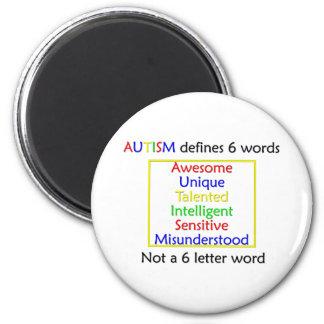 El autismo define imán redondo 5 cm