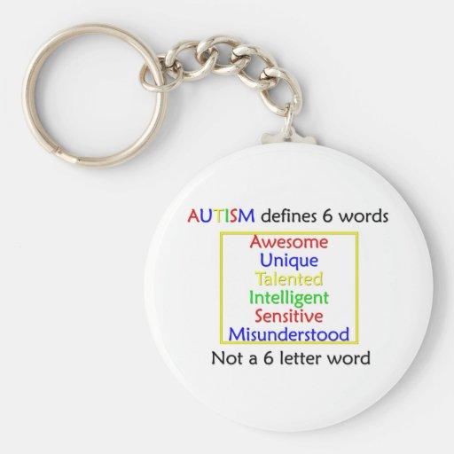 El autismo define llavero