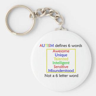 El autismo define llavero redondo tipo pin