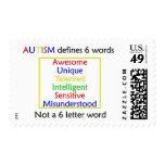 El autismo define sellos