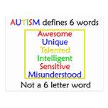 El autismo define tarjeta postal