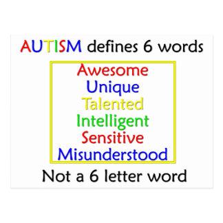 El autismo define tarjetas postales