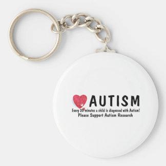 El autismo diagnosticó cada 20 minutos llavero redondo tipo pin